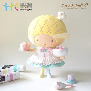 菠蘿油妹妹寶麗石粉樹脂公仔 -櫻花鬆餅奶油包特別版 (TTE限定oneoff版本)